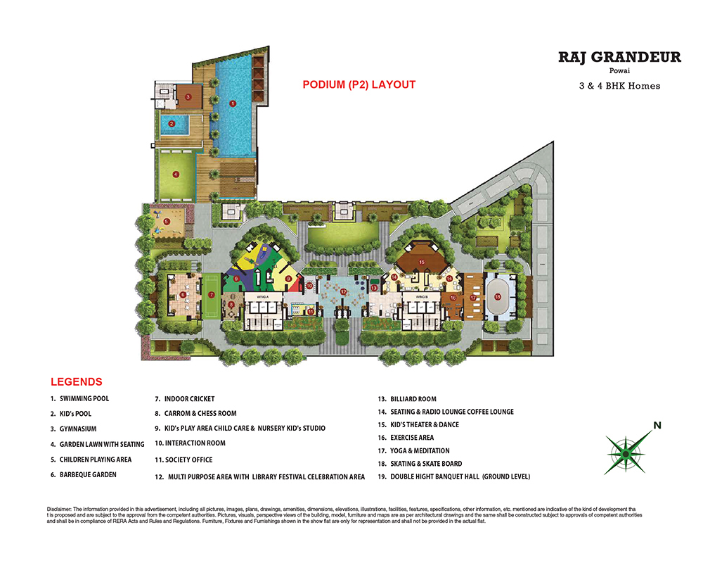 Raj Grandeur Layout Plan