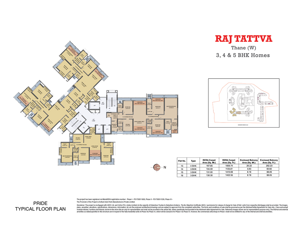 Raj Tattva Floor Plan Pride