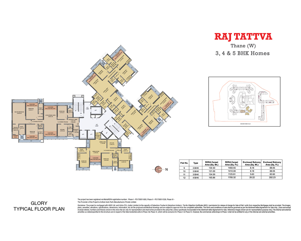 Raj Tattva Floor Plan Glory
